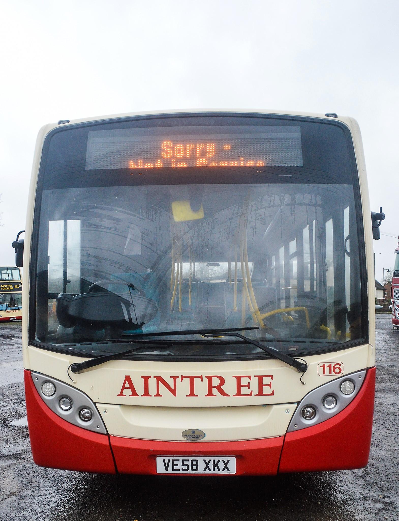 Lot 4 - Alexander Dennis Dart 4 Enviro 2000 29 seat single deck service bus Registration Number: VE58 XKX