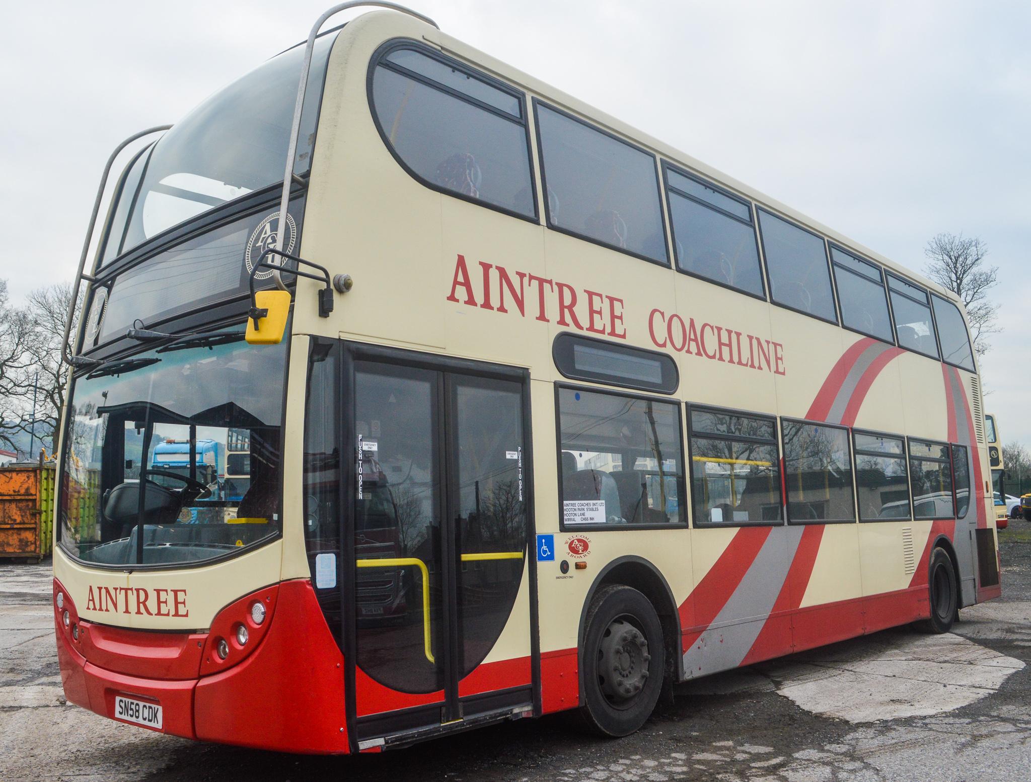 Lot 5 - Alexander Dennis Trident 2 Enviro 400 81 seat double deck service bus Registration Number: SN58