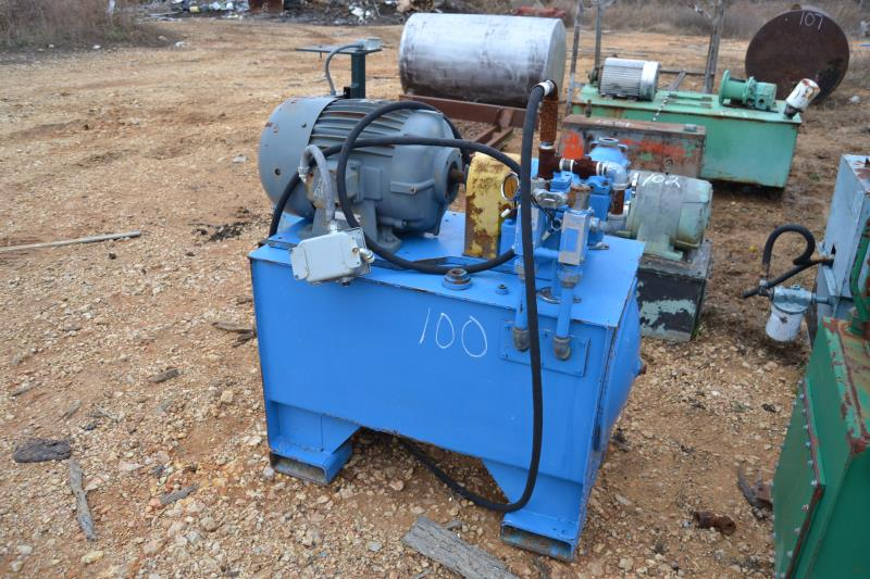 Lot 100 - 5 HP HYDRAULIC POWER PACK