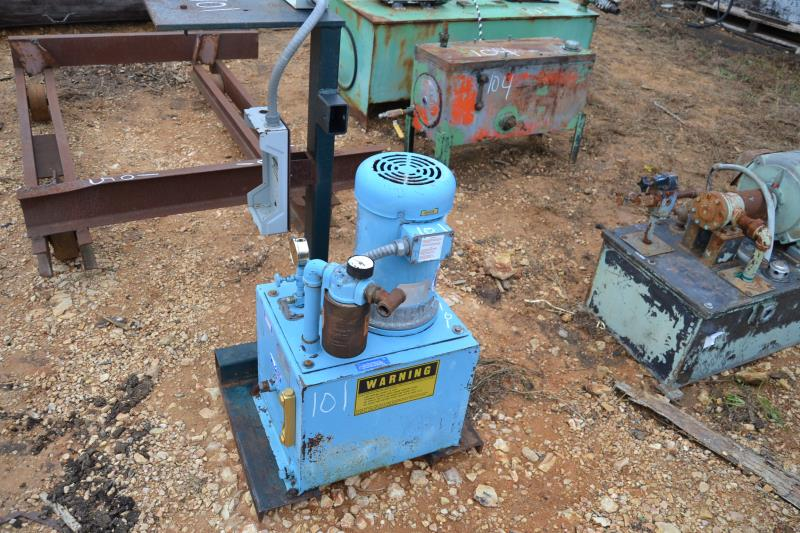 Lot 101 - 5 HP HYDRAULIC POWER PACK