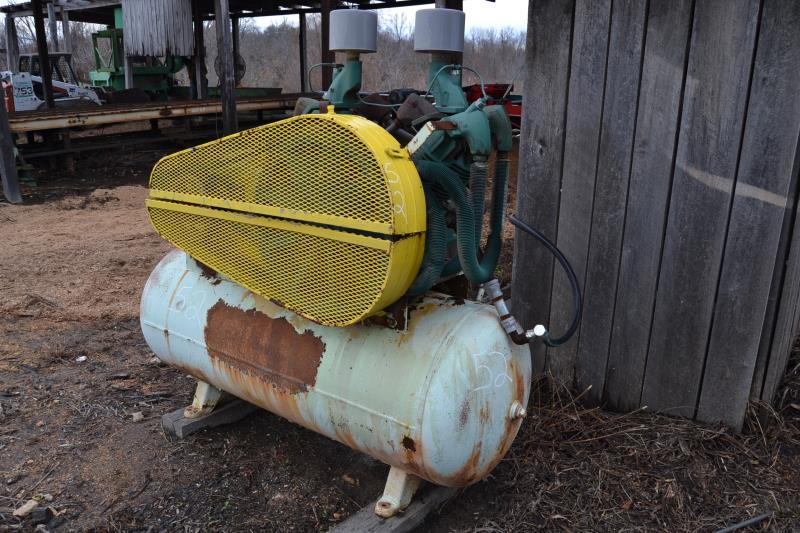 25 HP TANK MOUNTED AIR COMPRESSOR - Image 2 of 2