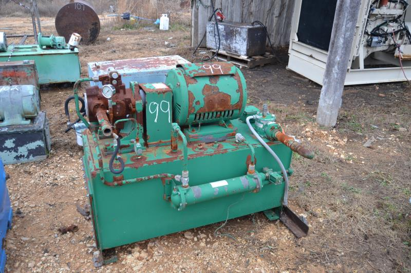 Lot 99 - 25 HP HYDRAULIC POWER PACK