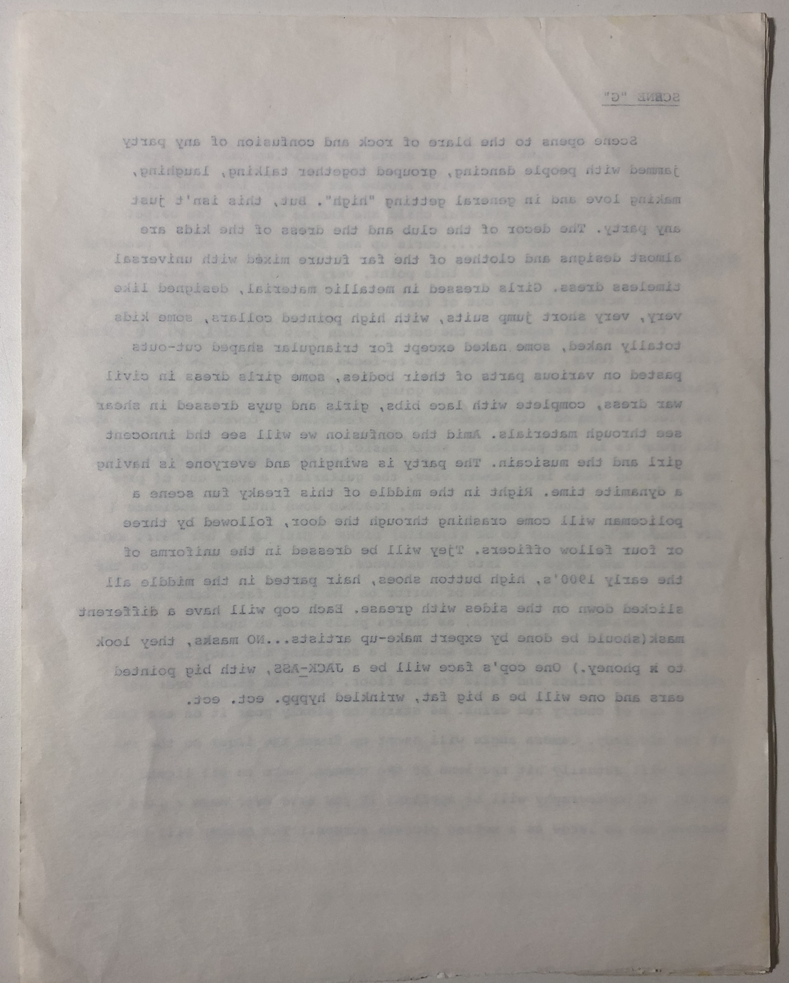 Lot 534 - JIMI HENDRIX MOONDUST SCRIPT.