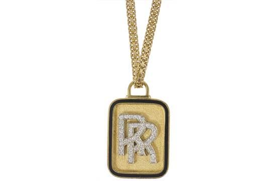 Rolls royce pendant the textured plaque depicting the r r logo rolls royce pendant the textured plaque depicting the r r logo within a black enamel surround aloadofball Choice Image