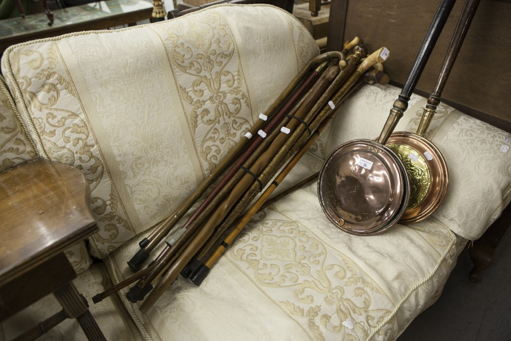 Lot 22 - FIFTEEN MODERN WALKING STICKS