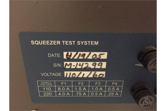 Lansmont Squeezer Test System S/N M-14299, RIGGING FEE $500