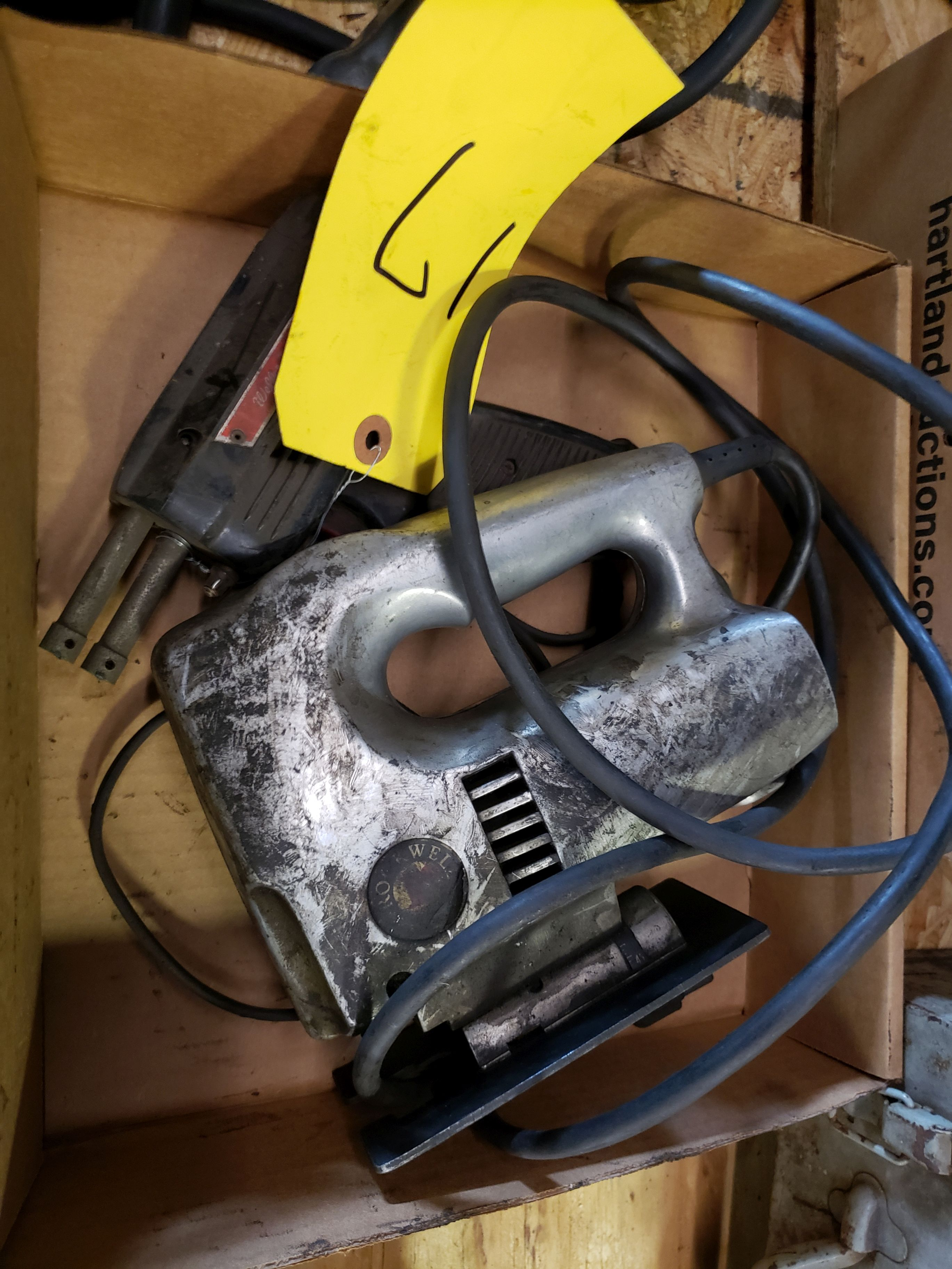 Lot 17 - SOLDERING IRON AND JIG SAW