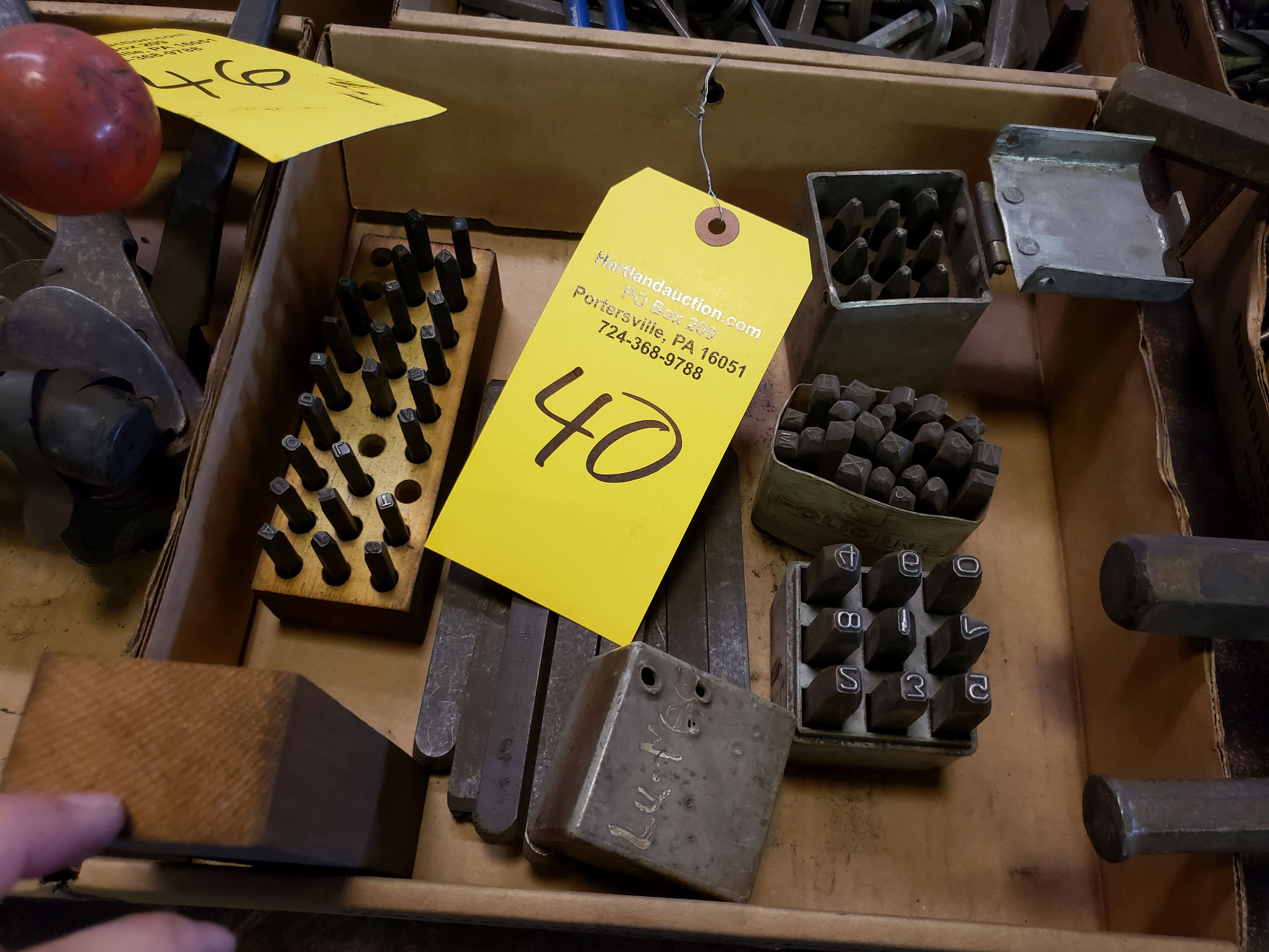 Lot 40 - NUMBER AND LETTER PUNCHES