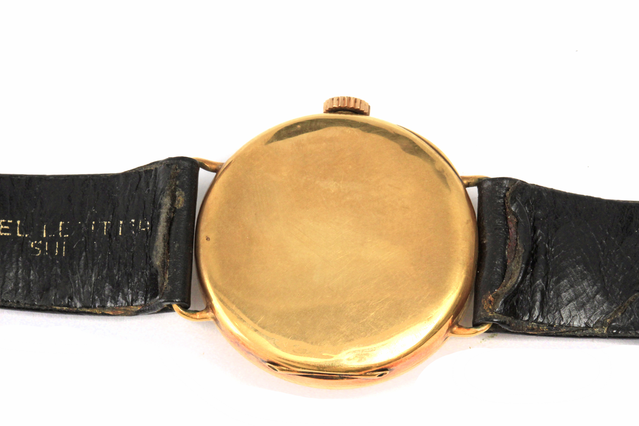 Lot 75 - Tissot. A wrist watch circa 1950 in 18 k. yellow gold