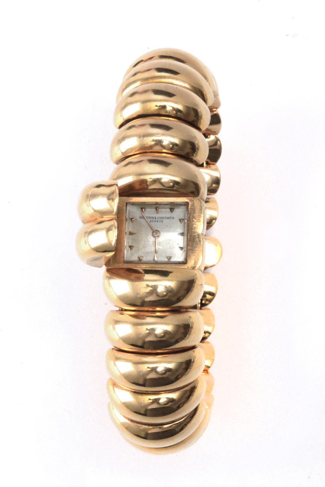 Lot 86 - Vacheron Constantin. An 18 k. yellow gold bangle watch