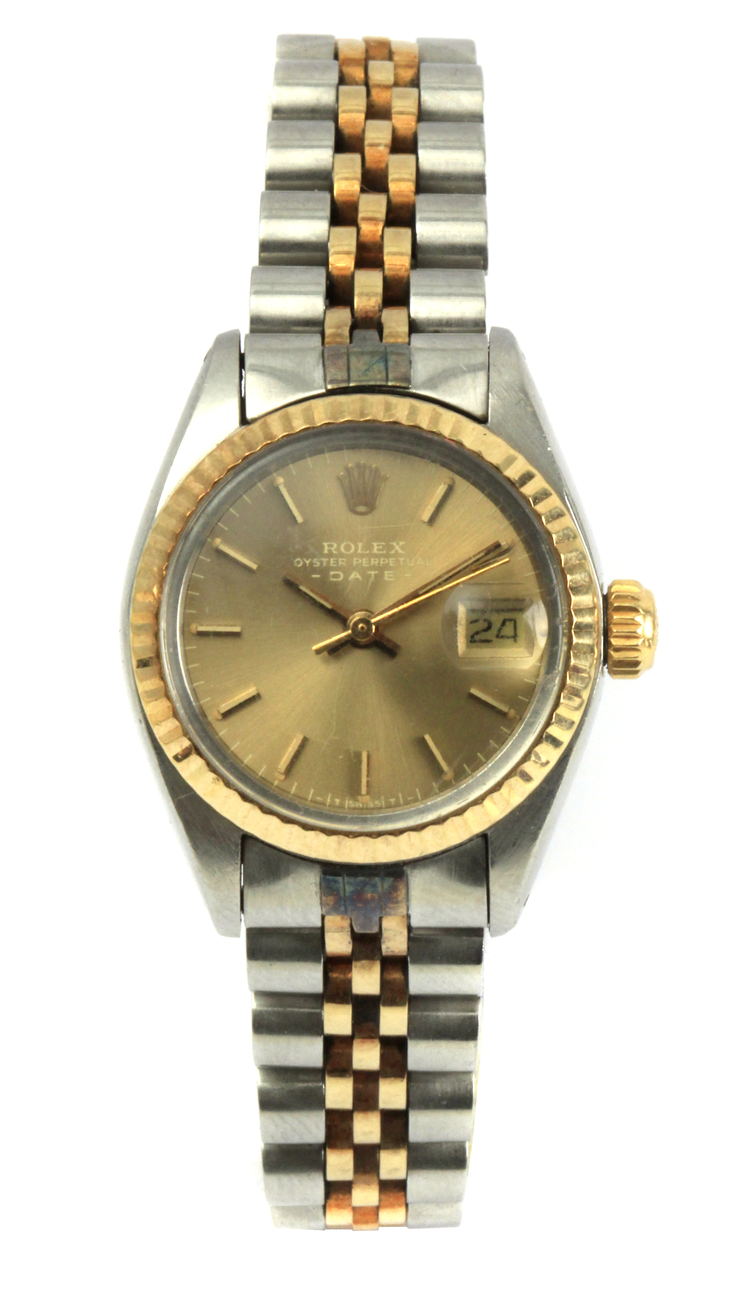 Lot 80 - Rolex Oyster Perpetual Date. A ladies wrist watch circa 1981