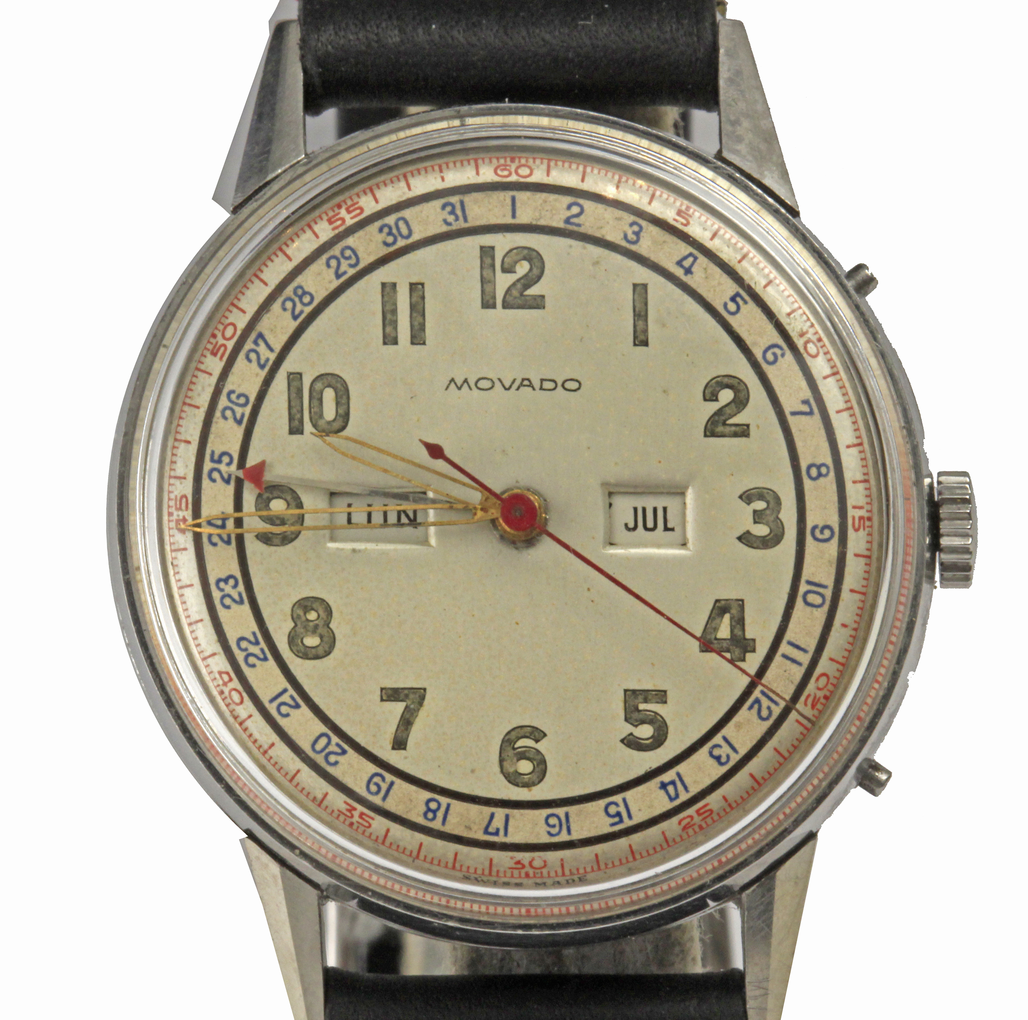 Lot 78 - Movado. A gentlemen wrist watch circa 1940