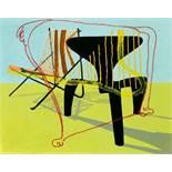 Martin Kippenberger (1953-1997) und Maria Papadimitriou (*1957) ()Music Chairs. 1996Öl auf Leinwand.