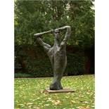 """Rainer Fetting (Wilhelmshaven 1949 – lives in Berlin)""""Desmond"""". 1987Bronze with dark brown patina."""