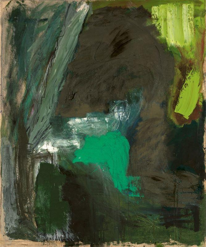"Los 738 - Per Kirkeby (1938 – Kopenhagen – 2018)""Untitled"". 1981Öl auf Leinwand. 120×100cm ( 47¼×39⅜"