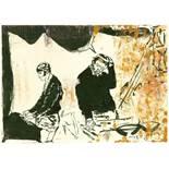 Neo Rauch (Leipzig 1960 – lebt in Leipzig)Ohne Titel. 2005Tuschestift und Öl auf Papier. 21×30