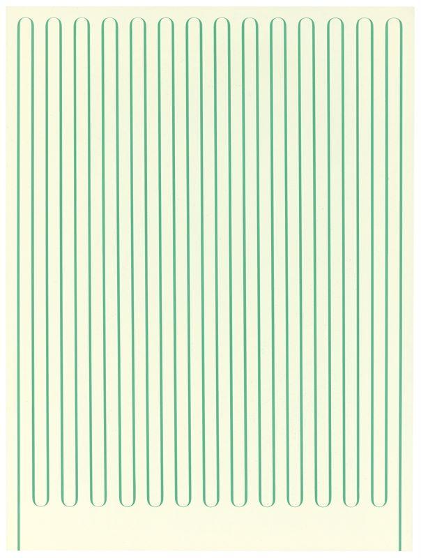 "Los 751 - Terry Haggerty (London 1970 – lebt in Berlin)""Vertical Radiator"". 2006Acryl auf Hartfaser. 61,5×"