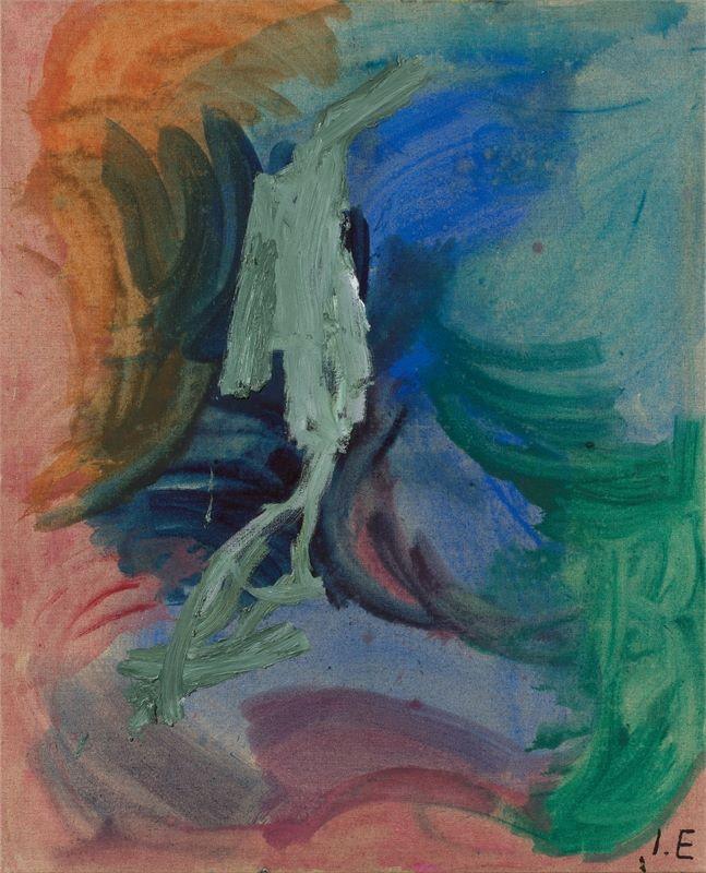 Los 726 - Ida Ekblad (Oslo 1980 – lebt in Oslo)Ohne Titel. 2010Öl auf Leinwand. 160×130cm ( 63×51⅛in.).
