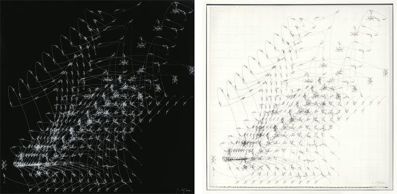 """Jorinde Voigt (Frankfurt a.M. 1977 – lebt in Berlin)""""Lichtbogen - Quadrat Umkehrung""""/ """"Lichtbogen -"""