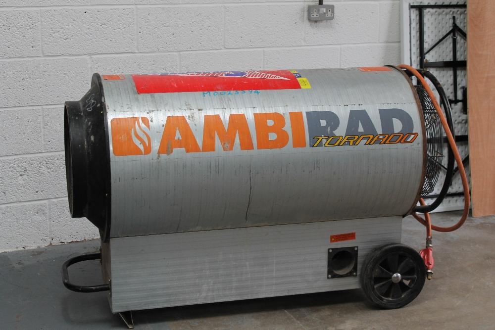 Industrial Blower Heaters : Ambirad tornado industrial gas blower heater no vat