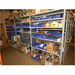 LOT/ CONTENTS OF SHELF CONSISTING OF GAUGES AND HARDWARE
