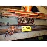 LOT/ TOOLS CONSISTING OF BAR CLAMPS, LEVELS, AND PUNCHES