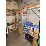 LOT/ CONTENTS OF SHELF CONSISTING OF LIFTING SUPPLIES AND HARDWARE