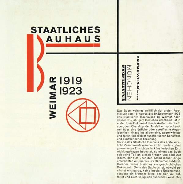 Lot 718 - Bauhaus - - Moholy-Nagy, Laszló. Staatliches Bauhaus Weimar 1919-1923. Subskriptions-Prospekt. (