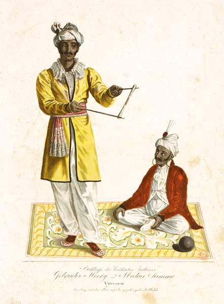 Auktionslos 486 - Genre - Varieté - - Bildniß der berühmten Indianer Gebrüder Mooty und Medua Samme. Vitecaren. In