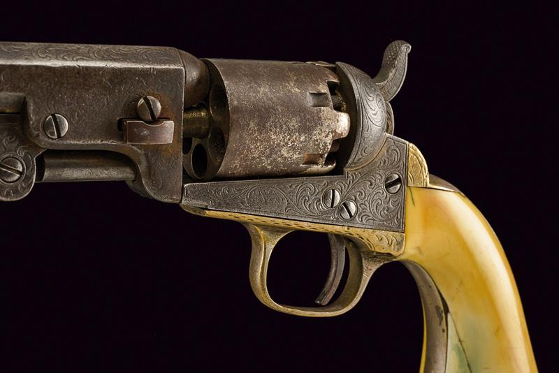 Lot 12 - An engraved Colt Model 1849 Pocket Revolver