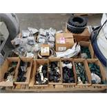 Pallet of assorted hardware.