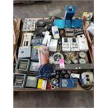 Pallet of assorted electrical and hardware.