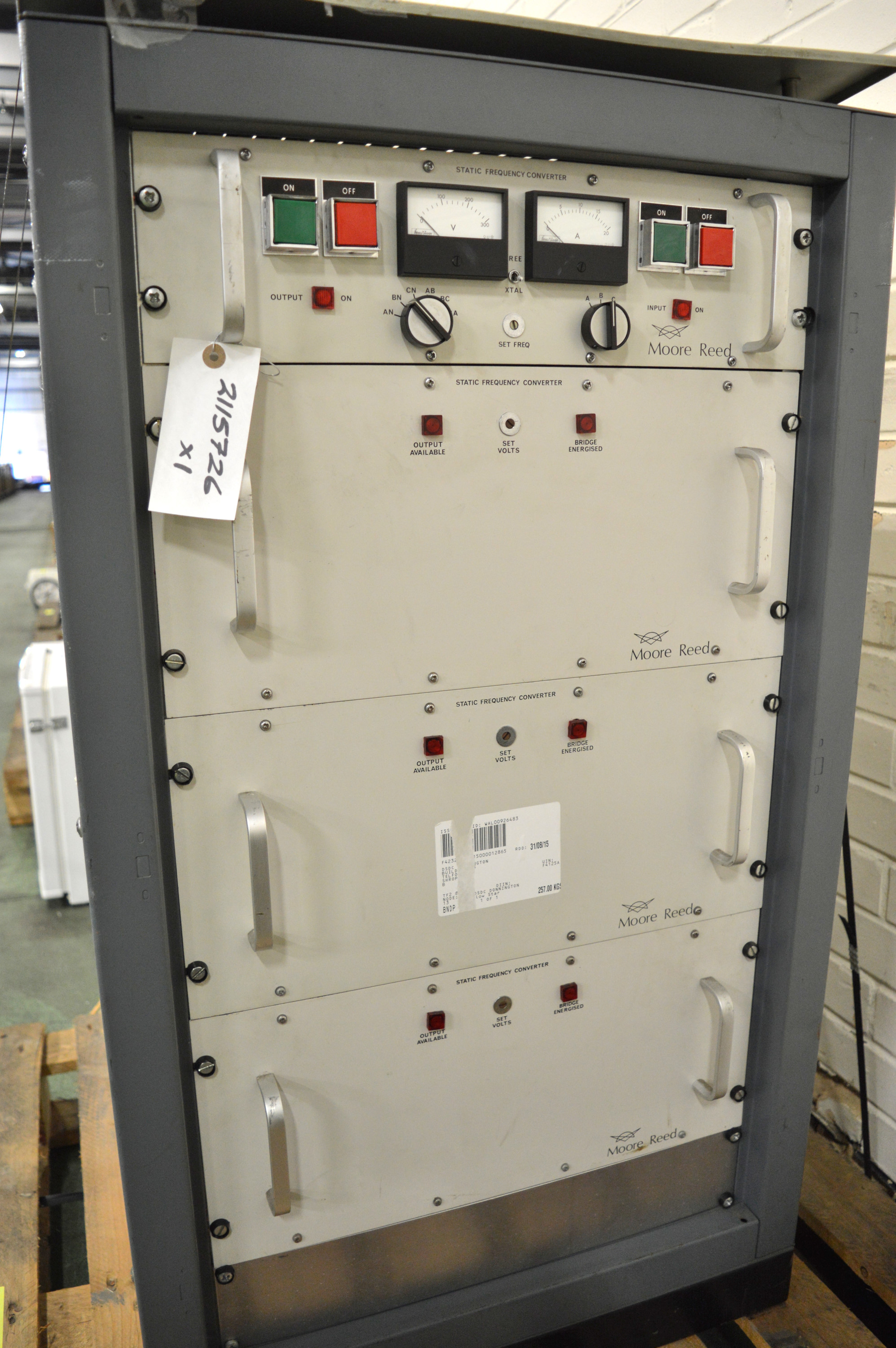 Lot 8 - Moore Reed Static Frequency Converter SFC 6K.