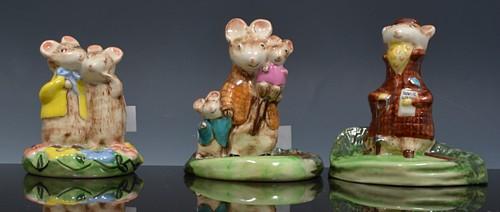 Collection of thirteen Beswick Kitty MacBride Happy Mice