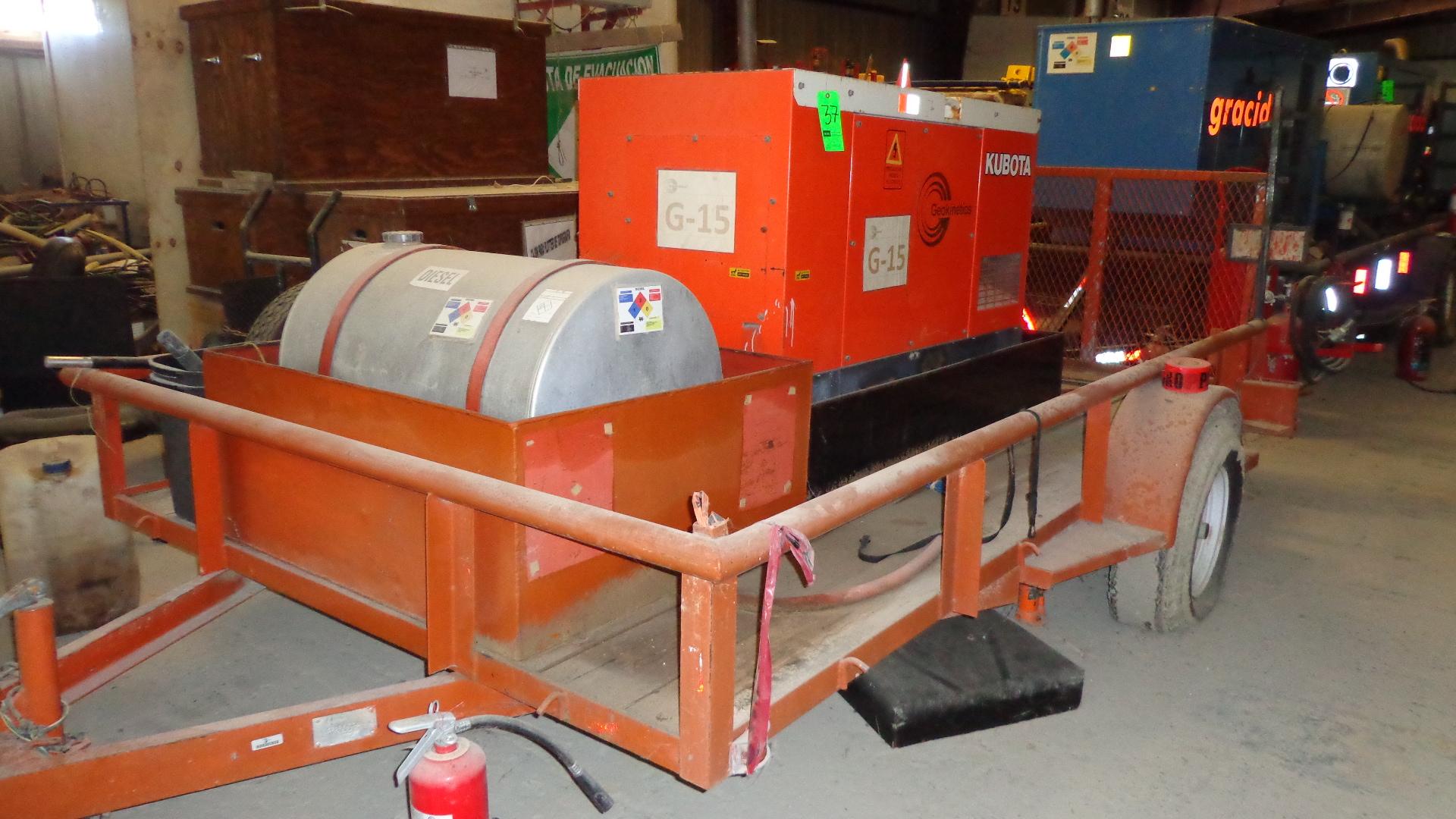 Kubota SQ 1200 USA Generator with Kubota Diesel Engine S N G