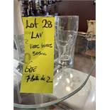 7 boites, LAY verre bière 2 pièce 556ml