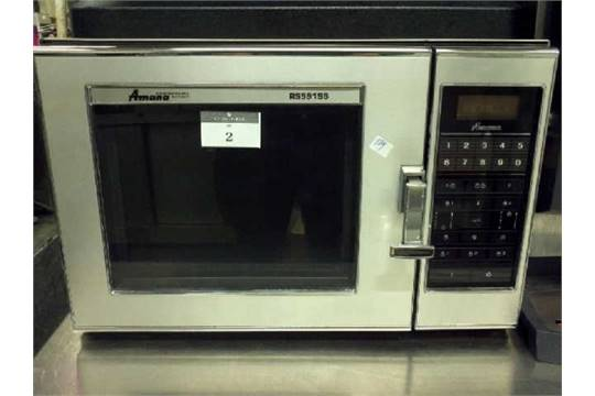 Lot 2 Amana Commercial Microwave Model Rs591ss