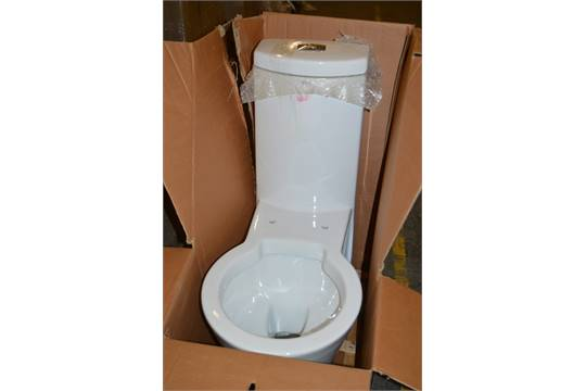 Vogue bathrooms deco one piece toilet pan and cistern