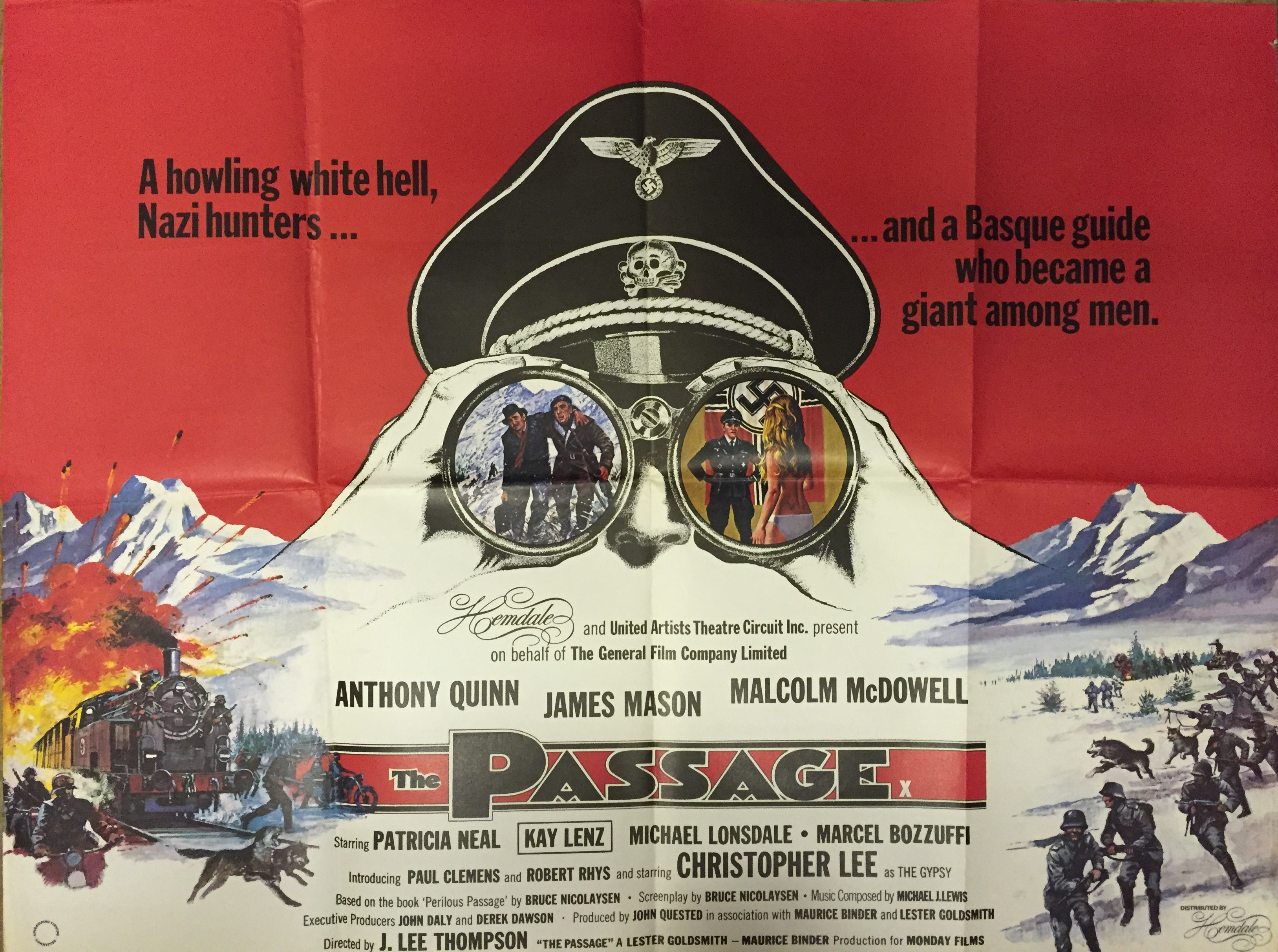 The Passage 1979 Film Poster Starring Anthony Quinn James Mason