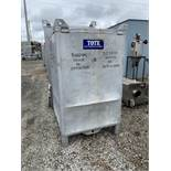 74 Cu Ft Tote Systems tote bin, aluminum construction