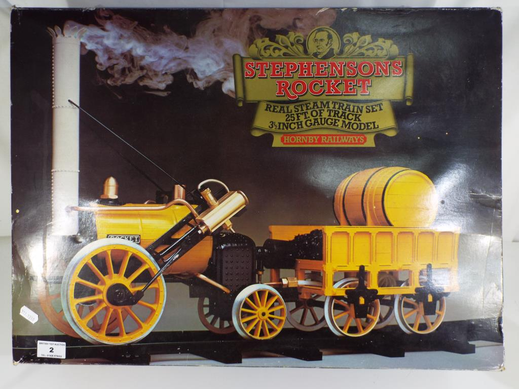 Lot 2 - Hornby - G100 Stephensons Rocket live steam engine, 3.