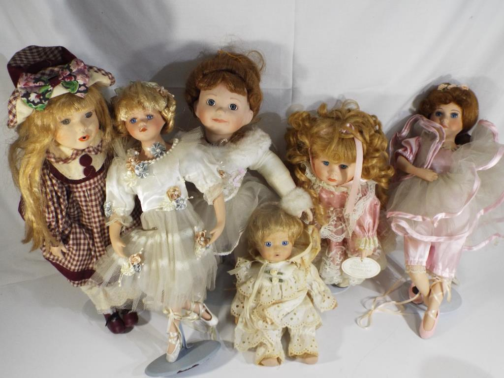 Lot 17 - Leonardo and The Ashton Drake Galleries - six porcelain dolls includes Jessie,