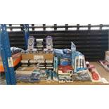 MIXED SILVERLINE TOOL LOT CONTAINING, SPEED BRACE, RADIATOR KEYS, SPARK PLUG WRENCH, TELESCOPIC PIPE
