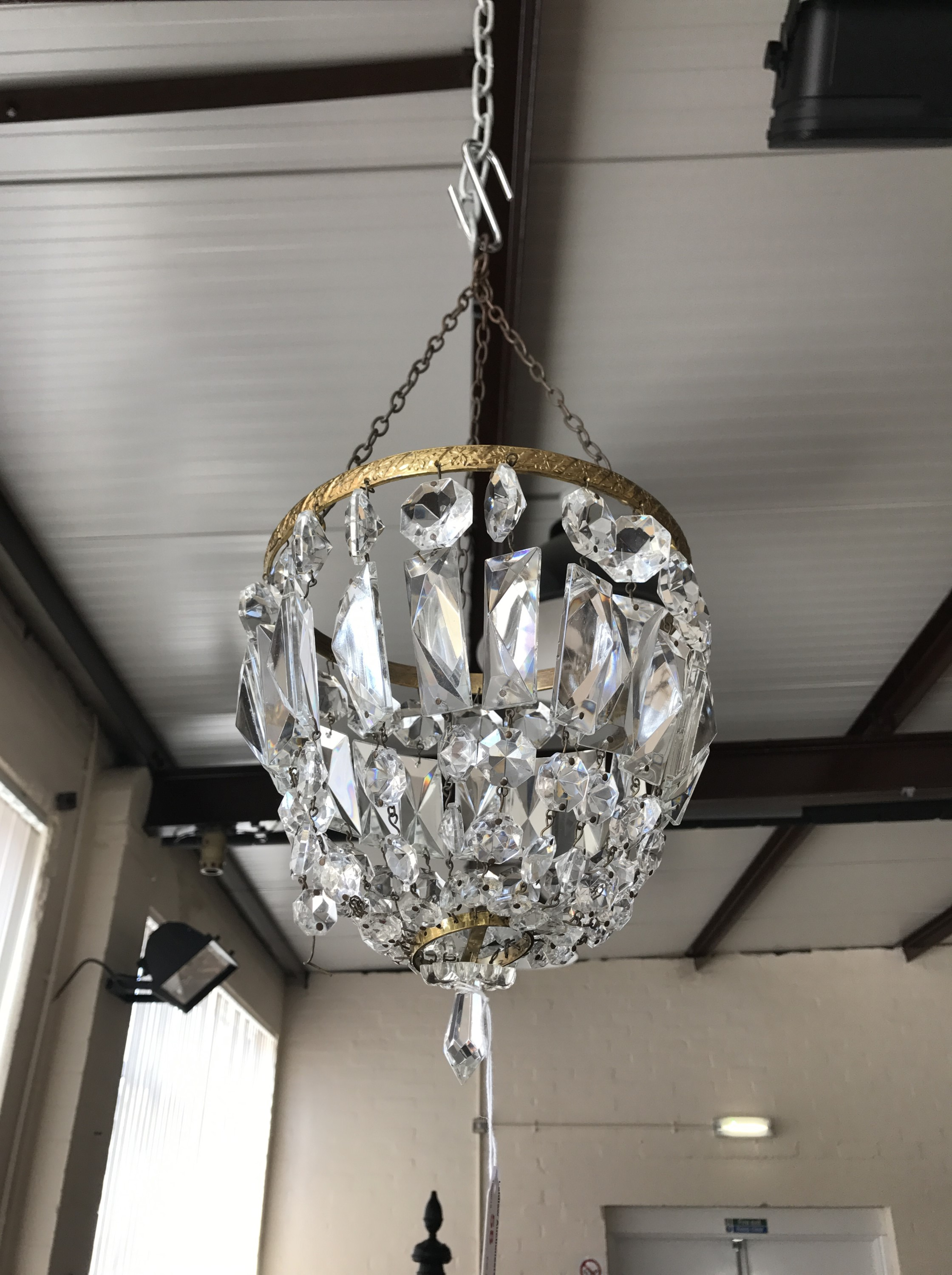 Lot 58 - A mid 20th Century cut-glass chandelier