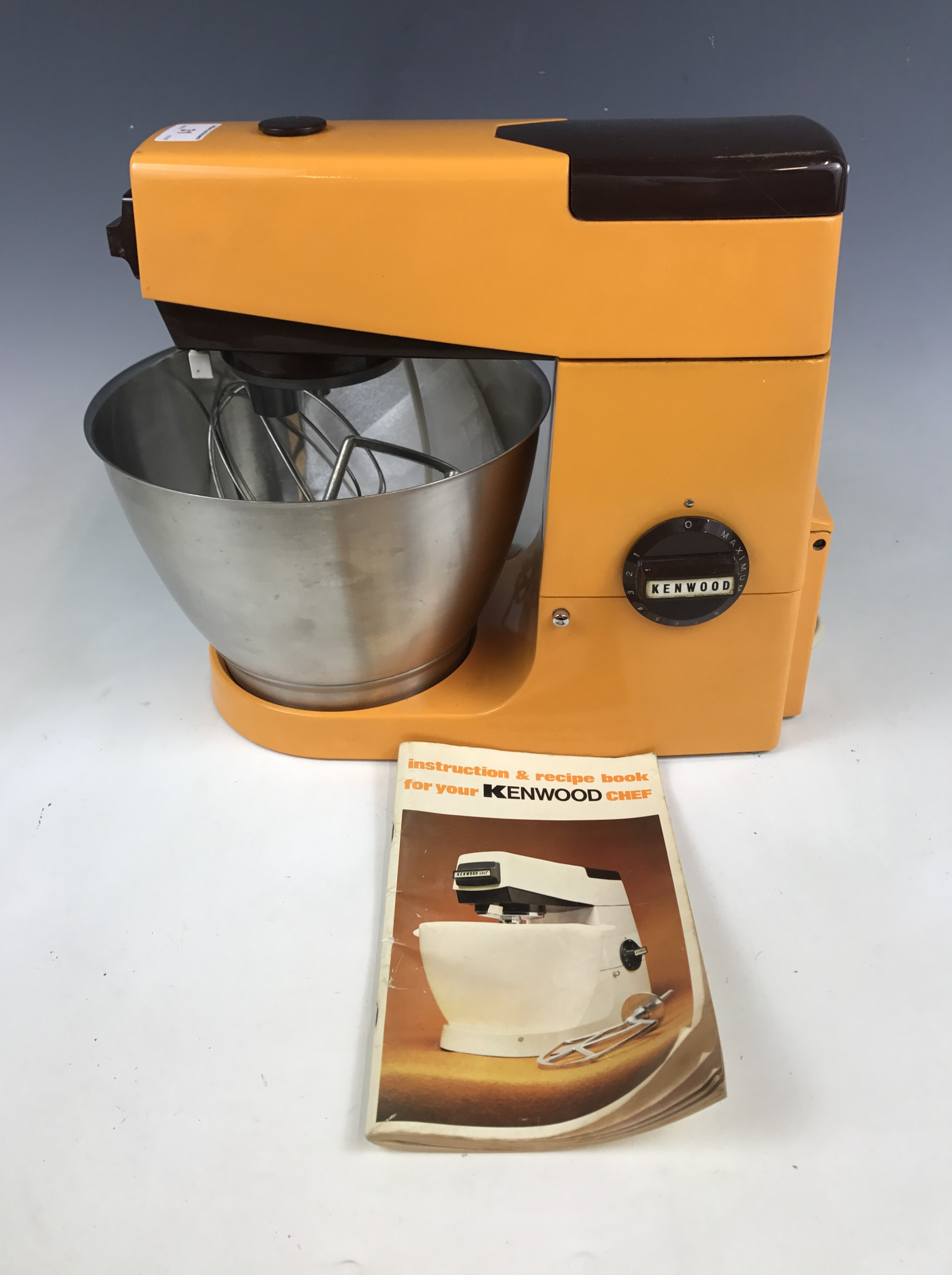 "Lot 31 - A late 1960s Kenwood Chef A701 range food mixer with ""planetary action"", together with K beater,"