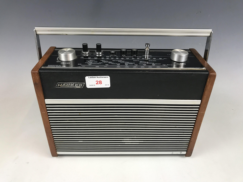 Lot 28 - A vintage Hacker radio