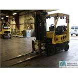 """5,000 LB. HYSTER MODEL S50FT LPG SOLID TIRE FORK LIFT; S/N G187V01912M, 189"""" LIFT, 75"""" CASCADE MODEL"""