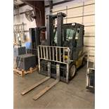 """6,000 LB YALE MODEL GLP060 LP GAS LIFT TRUCK; S/N B875B05426D, 211"""" LIFT HEIGHT, 6,222 HOURS SHOWING"""