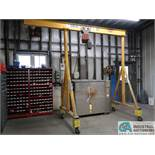 1 TON CAPACITY HANDLING SYSTEMS ADJUSTABLE HEIGHT GANTRY CRANE WITH 1/2 TON CAPACITY DAYTON
