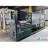 """CMM MODEL CM1050 DUAL HEAD CNC FENCE ROUTER; S/N 1050070365, 10"""" X 12' LONG (APPROX.) ROLLER TABLES"""